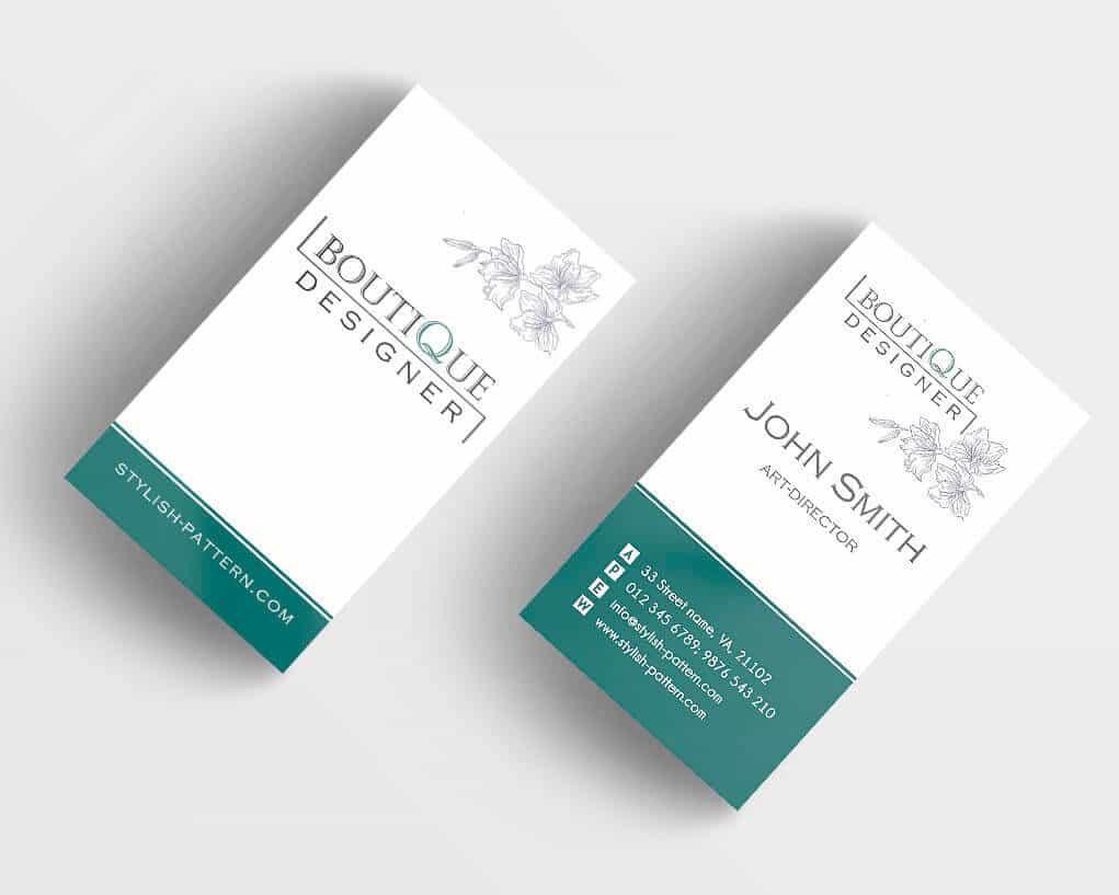 Шаблон визитки для бутика