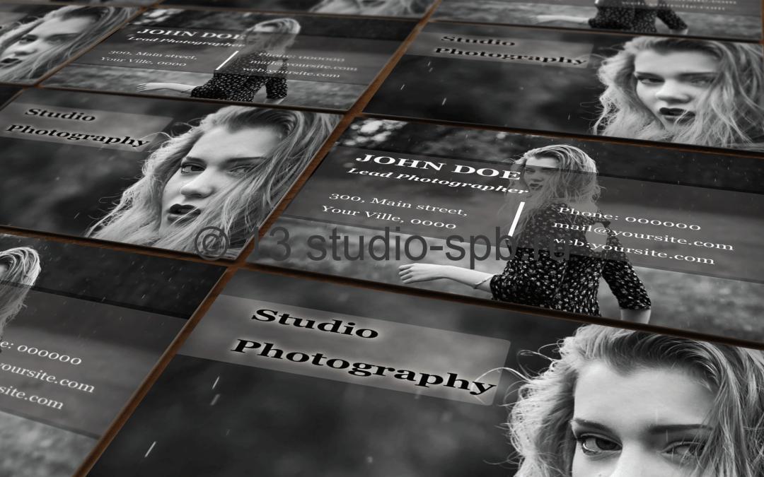 Визитка фото студии