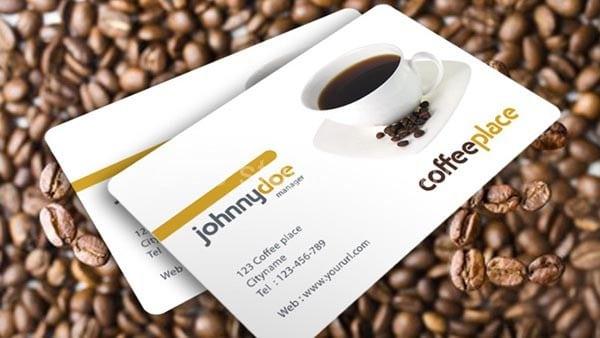 Скачать бесплатно шаблон визитки кафе