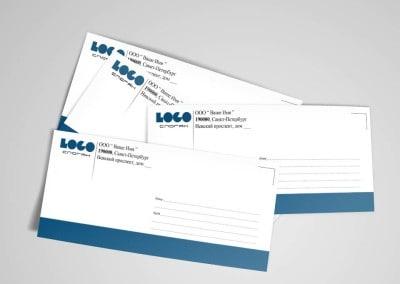 фирменный стиль шаблон конверта с лого