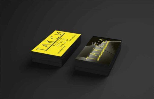 4 шаблона визитки такси