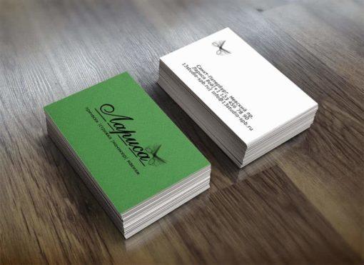 Шаблон визитки парикмахера с логотипом