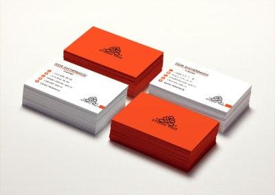 Шаблон визитки Studio Yogi