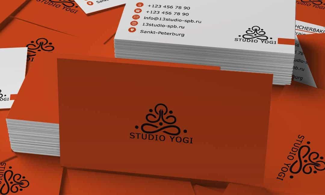 Визитка Studio Yogi