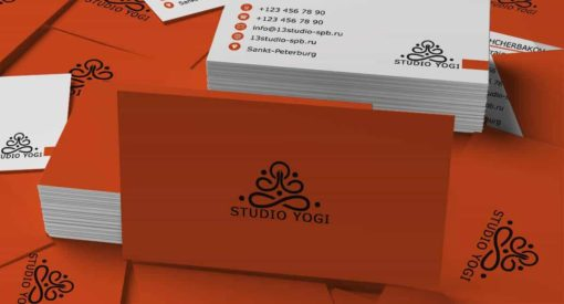 Шаблон визитки студии yogi