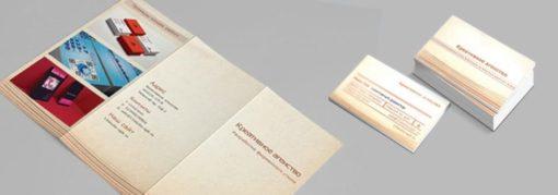 Согласованный дизайн буклета и визитки
