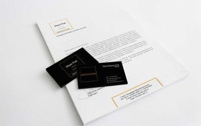 4 шаблона визитки+бланк A4 для адвоката