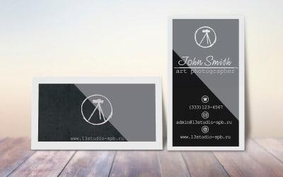 2 шаблона PSD личной визитки фотографа + бонус