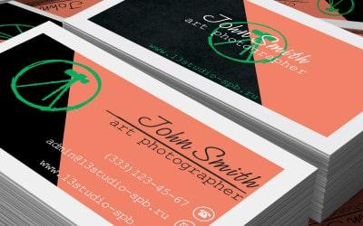 Визитка фотографа PSD с логотипом. Два варианта дизайна.