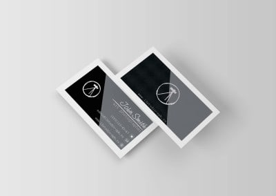 шаблон PSD личной визитки фотографа