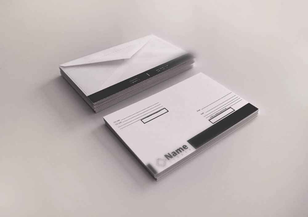 Шаблон фирменного конверта конверт