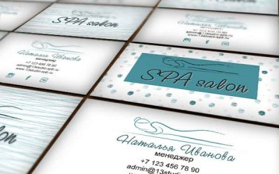 Шаблон визитки спа салона c логотипом