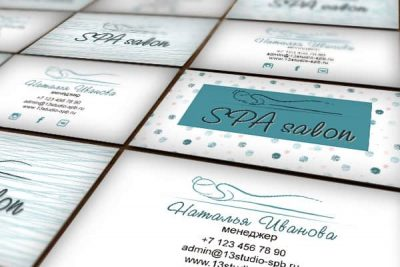 шаблон визитки спа салона