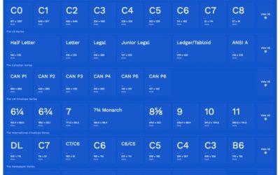 Размеры международных форматов бумаги