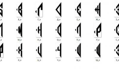 Буквы для монограмм. Левое расположение