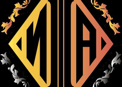 Буквы и рамки для монограмм_пример 4. Цветной фон