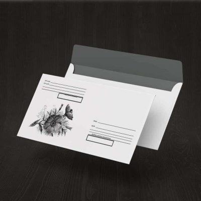 Шаблоны красочных почтовых конвертов DL/65 для распечатки на принтере