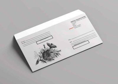Шаблоны почтовых конвертов DL/65 для распечатки на принтере